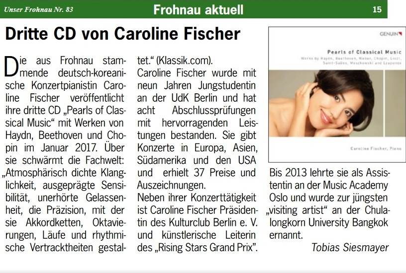 Unser Frohnau 2016 - 3. CD Pearls of Classical Music