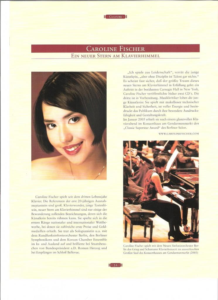 Berliner Salon Magazin 2005 - Ein neuer Stern am Klavierhimmel, S. 1
