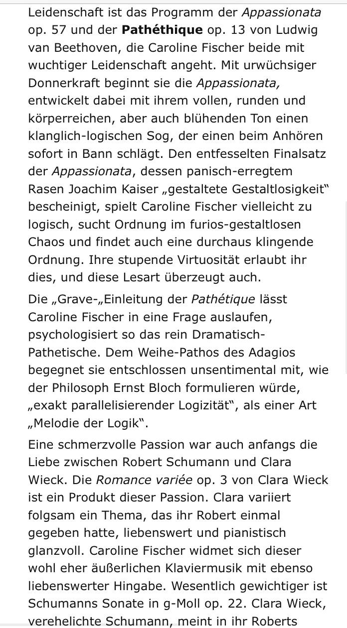 Caroline Fischer - Konzertpianistin