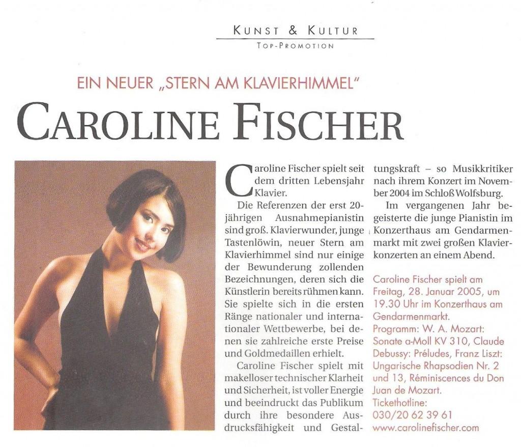 Top Magazin 2005 - Ein neuer Stern am Klavierhimmel Caroline Fischer